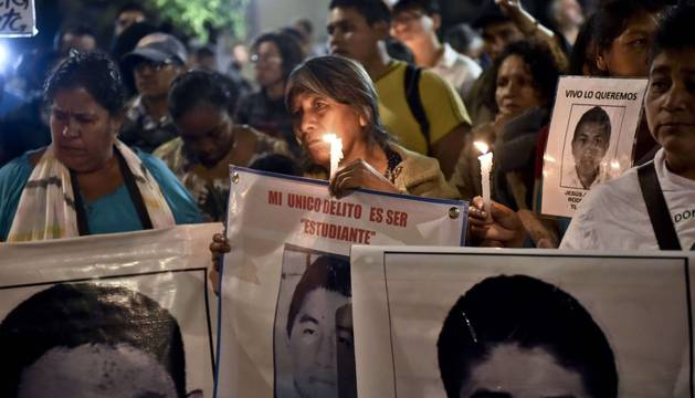 En la protesta de México