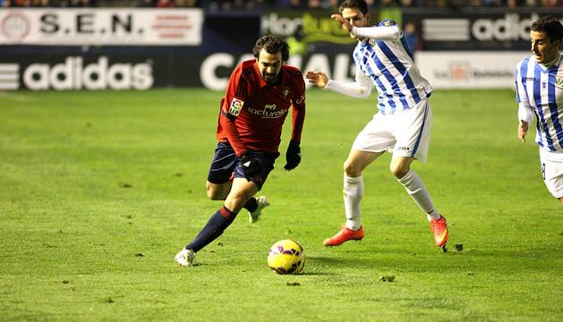 Imágenes del encuentro de la jornada 19, temporada 2014/2015 de la Liga Adelante, disputado entre el C.A. Osasuna y el Leganés en el estadio de El Sadar.
