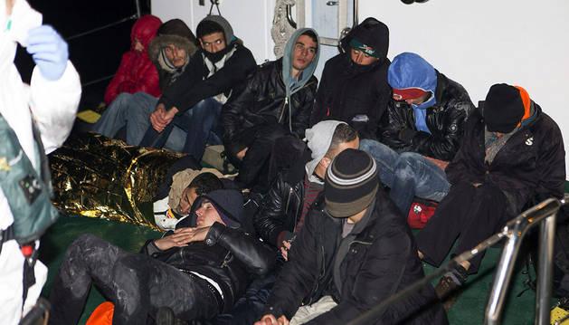 Los inmigrantes de origen magrebí interceptados en Granada.
