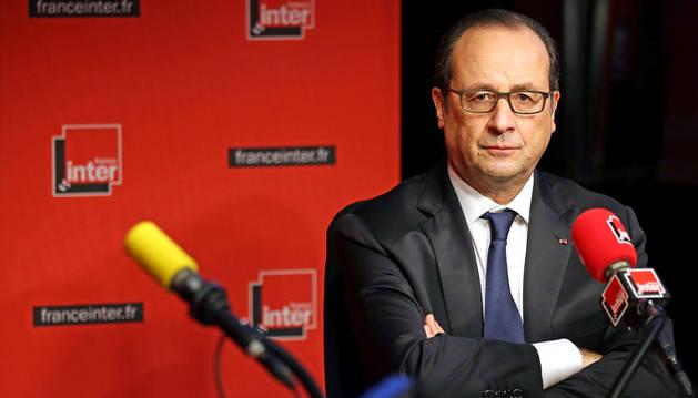 Hollande, durante la entrevista en la radio.