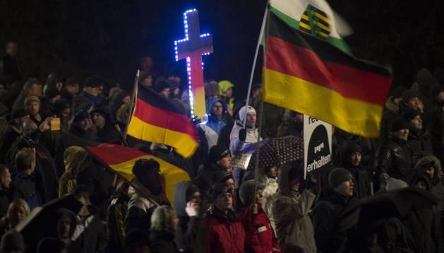 El movimiento islamófobo Pegida se afianza en Dresde