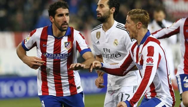 Raúl García, Arbeloa y Fernando Torres