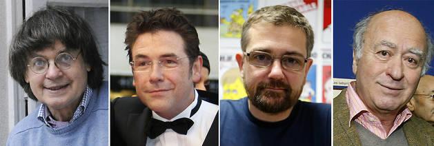 De izquierda a derecha: Cabut (Cabu), Tignous, Charb y Wolinski.