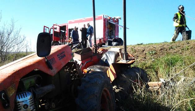 Estado del tractor tras el accidente