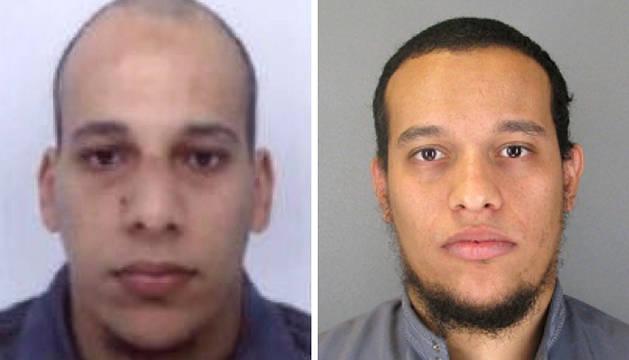 Imágenes facilitadas por la Policía francesa de Cherif Kouachi y su hermano, Said.