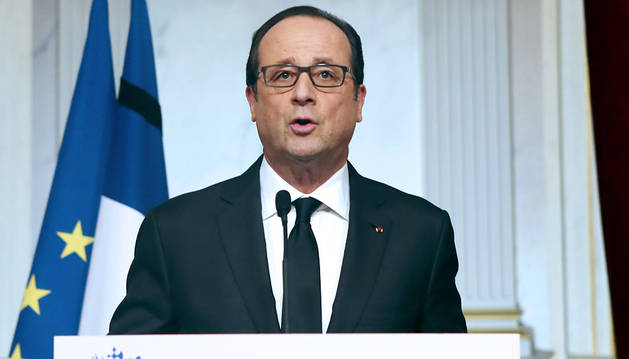 Hollande, durante su comparecencia.