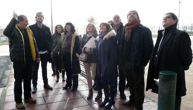 Parlamentarios visitan el colegio  público Marqués de la Real Defensa