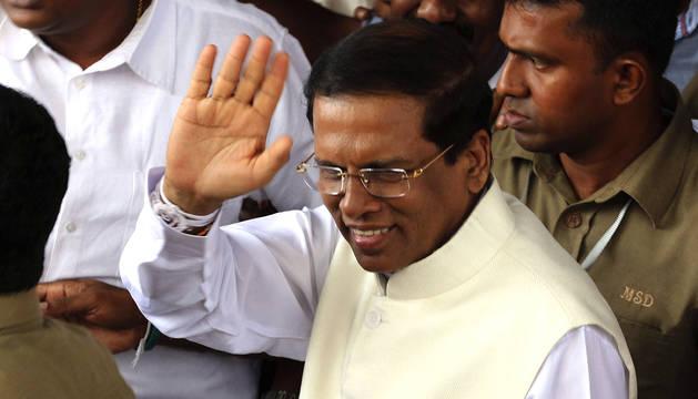 Sirisena, presidente de Sri Lanka tras derrotar al