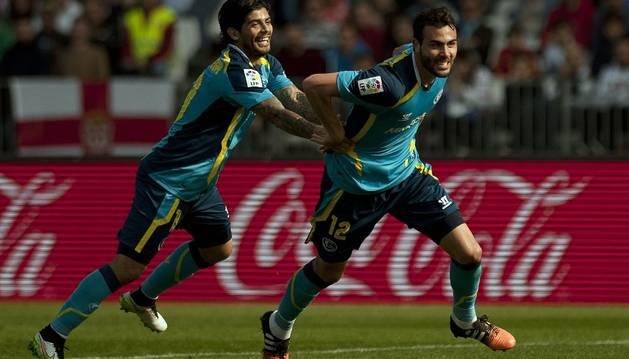 Iborra celebra el gol ante el Almería