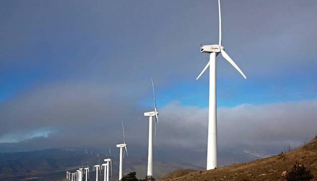 Panorámica del parque eólico de El Perdón