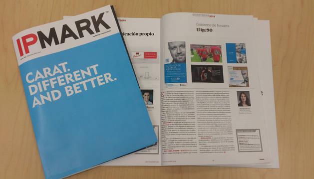 La revista 'Ipmark', con el apartado dedicado a 'Elige 90'