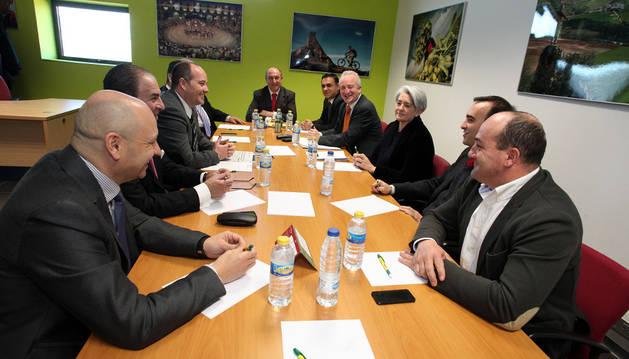 Reunión entre Goicoechea y miembros de la nueva asociación de empresarios