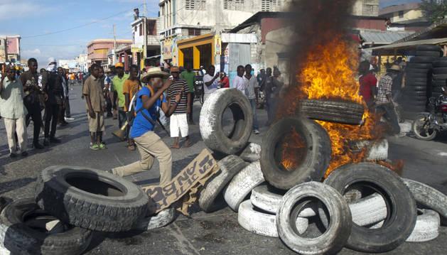 Protestas en Haití contra el presidente
