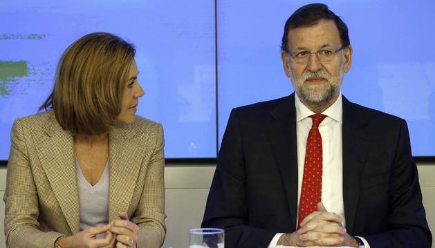 Rajoy y Cospedal, en el Comité ejecutivo del PP.