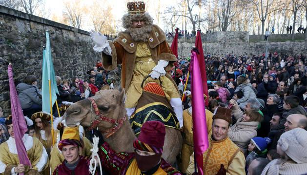 Llegada de los Reyes Magos a Pamplona.