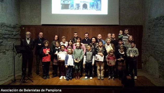 Premiados por los belenistas de Pamplona