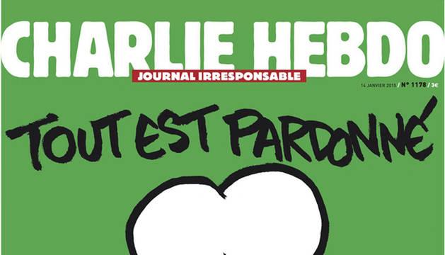 'Charlie Hebdo' saca en portada un dibujo de Mahoma con el cartel de