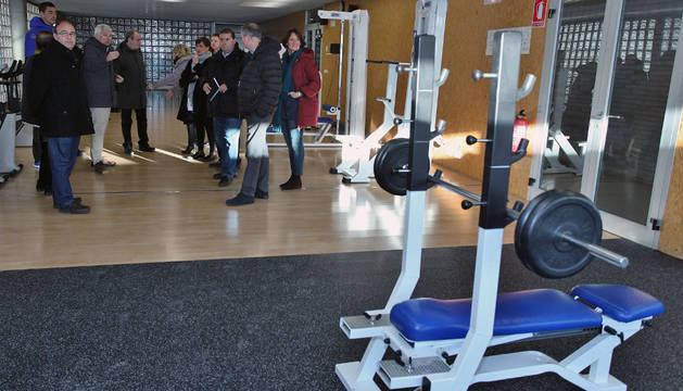 Sala de musculación del polideportivo de Mendillorri