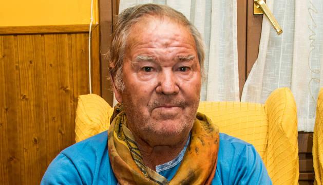 Miguel Balduz Navarro, vecino de Peralta, tras el ataque.