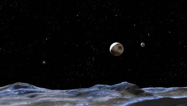 Recreación artística de Plutón