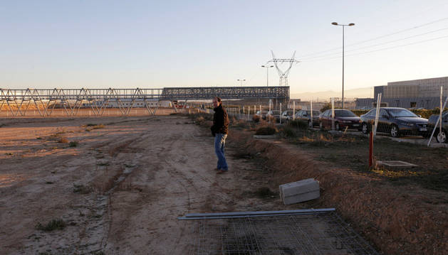Imagen del solar donde se construye la incubadora de Uvesa
