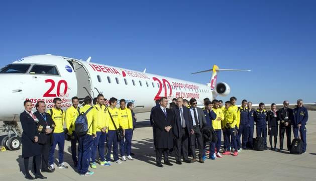 La expedición del Villarreal, lista para subir al avión