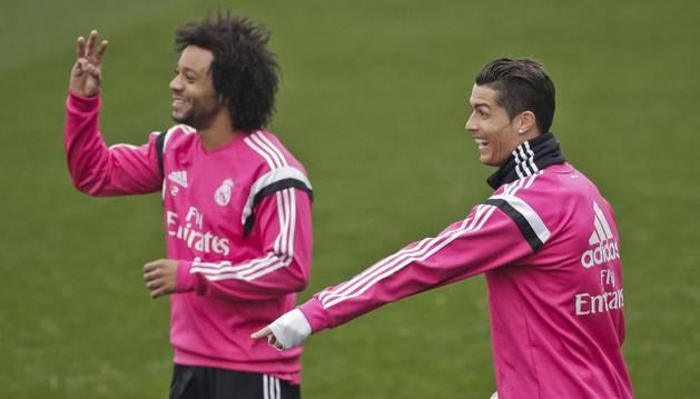 Marcelo y Cristiano, en Valdebebas