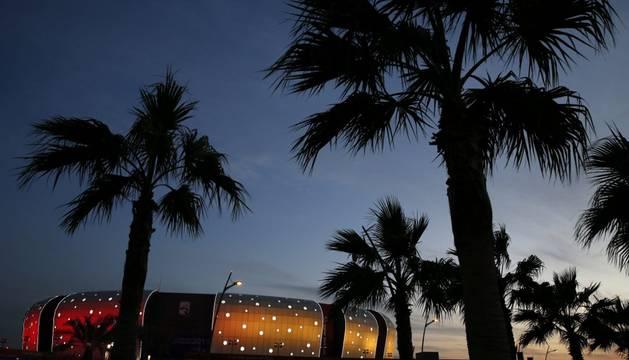 Vista exterior del Duhail Sports Hall de Doha