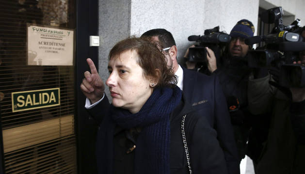 Teresa Romero, a su llegada a los juzgados de Alcorcón.