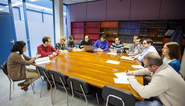 Imagen de la sesión de coordinación del proyecto celebrada en la UPNA.