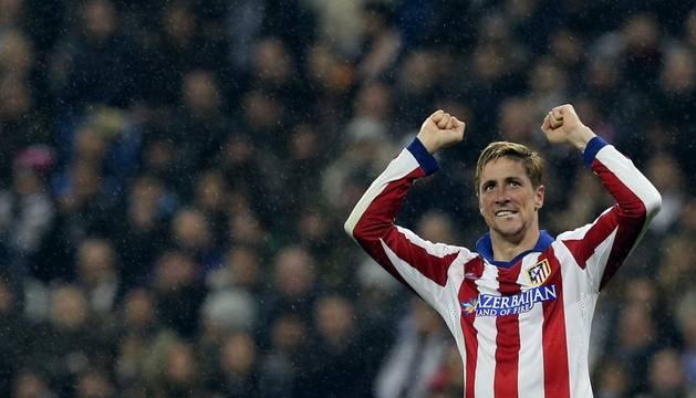 Fernando Torres celebra el segundo gol