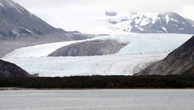 Un glaciar en el Canal Beagle