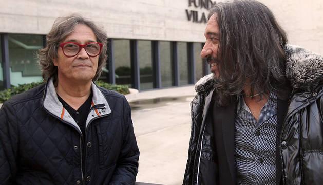 Chano Domínguez, junto al cantaor Blas Córdoba.