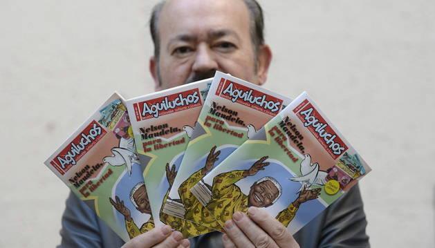 Germán Díez, autor del cómic sobre Mandela