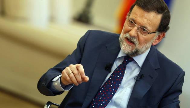 Mariano Rajoy, durante la entrevista.