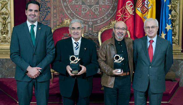 Íñigo Alli, Pedro Puente, Iñaki San Miguel y Miguel Echarri