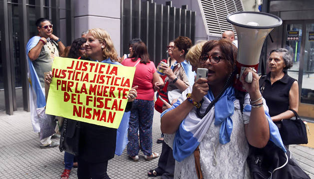 Protestas en Buenos Aires por el asesinato de Nisman.