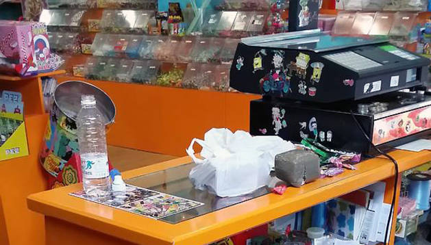 Tienda de golosinas de Villava desde la que se distribuía la droga