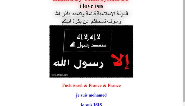 Captura de la imagen que aparece en las web pirateadas.