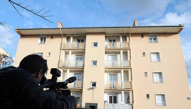 Edificio en Beziers, donde se ha producido un arresto.