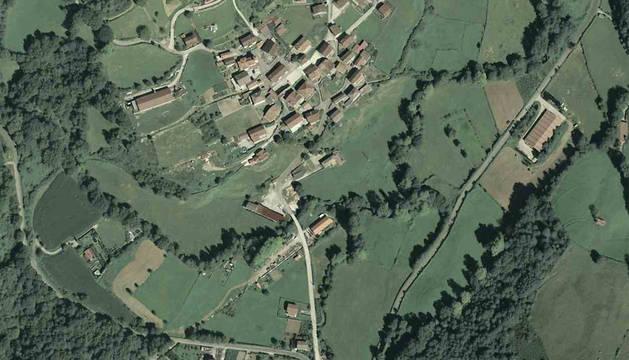 Imagen aérea de Oitz.