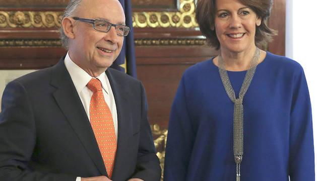 Montoro y Barcina, durante la reunión de esta mañana en Madrid.