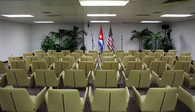 Sala del Palacio de Convenciones de La Habana donde se va a producir la reunión.