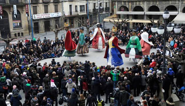 Tafalla rinde honores a San Sebastián