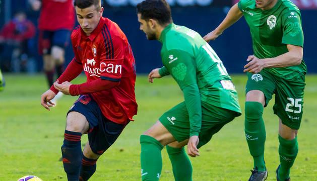 Alex Berenguer, en el partido Osasuna-Sabadell