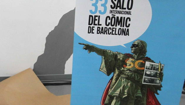 Cartel que presenta el Salón del cómic de Barcelona
