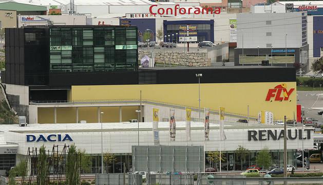 Vista de la nave de Fly dentro del parque Galaria, que ahora pasará a ocupar Ikea.