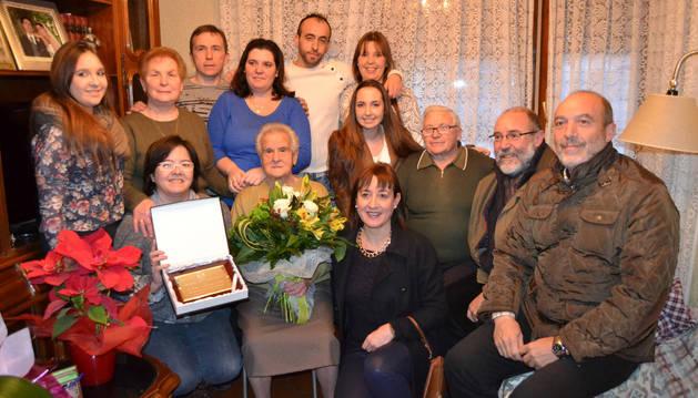 San Adrián felicita a Inés Martínez por sus 100 años