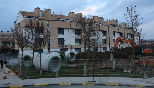 La nueva red de saneamiento de Zizur estará terminada en mayo