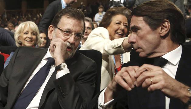 Rajoy y Aznar, en la convención del PP.
